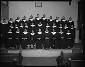 view Mt. Jezreel Baptist Church Choirs, Jan[uary] 1964 [cellulose acetate photonegative] digital asset: Mt. Jezreel Baptist Church Choirs, Jan[uary] 1964 [cellulose acetate photonegative].
