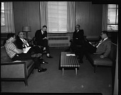 view H.U. [Howard University] press conference for Prof. Williams, March 1964 [cellulose acetate photonegative] digital asset number 1