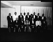 view Alpha Omega Alpha Medical Honor Fraternity, April 1964 [cellulose acetate photonegative] digital asset: Alpha Omega Alpha Medical Honor Fraternity, April 1964 [cellulose acetate photonegative].