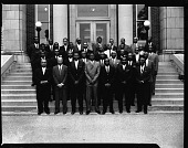 view Phi Beta Sigma Fraternity Group, May 1964 [cellulose acetate photonegative] digital asset: Phi Beta Sigma Fraternity Group, May 1964 [cellulose acetate photonegative].