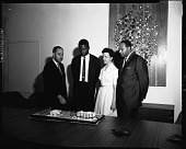 view Sidney Poitier at Industrial Bank [of Washington], May 1964 [cellulose acetate photonegative] digital asset: Sidney Poitier at Industrial Bank [of Washington], May 1964 [cellulose acetate photonegative].