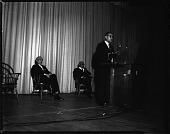 view Dr. Ralph Bunche at Howard U[niversity], May 1964 [cellulose acetate photonegative] digital asset: Dr. Ralph Bunche at Howard U[niversity], May 1964 [cellulose acetate photonegative].
