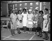 view Dean of Womens [sic] Garden Party, June 1964 [cellulose acetate photonegative] digital asset: Dean of Womens [sic] Garden Party, June 1964 [cellulose acetate photonegative].