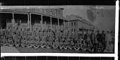 view [Posed group of men in military uniform : cellulose acetate photonegative, banquet camera format] digital asset: [Posed group of men in military uniform, ca. 1930s : cellulose acetate photonegative, banquet camera format].