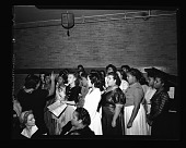 view Women's Dinner H.U. 1940 [from enclosure] [cellulose acetate photonegative] digital asset: Women's Dinner H.U. 1940 [from enclosure] [cellulose acetate photonegative].