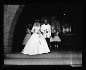view Miss Gloria Smith (Wedding) Deluxe Wedding Album June 24/1956 [from enclosure] [cellulose acetate photonegative] digital asset: Miss Gloria Smith (Wedding) Deluxe Wedding Album June 24/1956 [from enclosure] [cellulose acetate photonegative].