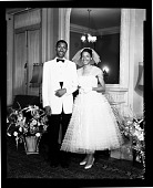 view Mrs. Agnes Smith Wedding June 9/56 [black-and-white cellulose acetate photonegative] digital asset: Mrs. Agnes Smith Wedding June 9/56 [black-and-white cellulose acetate photonegative].