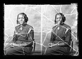 view Miss Sarah E. Boulware--Locket April 8/51 -- Locket [from enclosure] [black-and-white cellulose acetate photonegative] digital asset: Miss Sarah E. Boulware--Locket April 8/51 -- Locket [from enclosure] [black-and-white cellulose acetate photonegative].