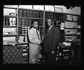 view Law Student and Dean of Law at Howard U. Mar. 1955 [from enclosure] [black-and-white cellulose acetate photonegative] digital asset: Law Student and Dean of Law at Howard U. Mar. 1955 [from enclosure] [black-and-white cellulose acetate photonegative].