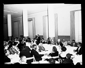 view Lincoln U. Alumni Dinner Mar 1955 [from enclosure] [black-and-white cellulose acetate photonegative] digital asset: Lincoln U. Alumni Dinner Mar 1955 [from enclosure] [black-and-white cellulose acetate photonegative].