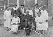 view Reverend Smith and stewardesses, Trinity A.M.E. Church [acetate film photonegative] digital asset: Reverend Smith and stewardesses, Trinity A.M.E. Church [acetate film photonegative, ca. 1930].