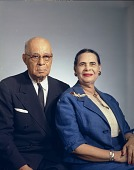 view Congressman and Mrs. [Arthur W.] Mitchell [#1 of 4] [color negative] digital asset: Congressman and Mrs. [Arthur W.] Mitchell [#1 of 4] [color negative], 1964.