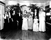 view Reverend B. U. Coleman, wedding party [cellulose acetate photo negative] digital asset: Rev. B. U. Coleman, wedding party [cellulose acetate photonegative].