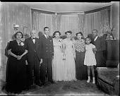view Miss Lewis Johnson [group portrait] [photonegative] digital asset: Miss Lewis Johnson [group portrait] [photonegative, ca. 1930].