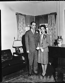 view Mr. and Mrs. Parker Wesley [photonegative] digital asset: Mr. and Mrs. Parker Wesley [photonegative, ca. 1930].