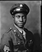 view Sgt. Eddie Gibson [1 of 3] [photonegative] digital asset: Sgt. Eddie Gibson [1 of 3] [photonegative, ca. 1940]