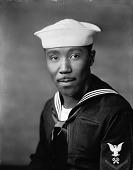view Mr. Ulysses Smith [in sailor uniform: vertical format : acetate film photonegative] digital asset: Mr. Ulysses Smith [in sailor uniform: vertical format : acetate film photonegative, ca. 1942-1945].