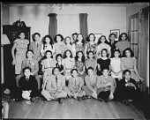 view [Three rows of African American children and teenagers, possibly at a party : acetate film photonegative] digital asset: [Three rows of African American children and teenagers, possibly at a party : acetate film photonegative, ca. 1948].
