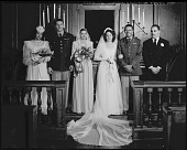 view Mrs. Wiley Seldon [and wedding party [horizontal format : acetate film photonegative] digital asset: Mrs. Wiley Seldon [and wedding party [horizontal format : acetate film photonegative, ca. 1942-1945].