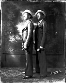 view Robert Murray [theatrical group: two persons standing, full length : acetate film photonegative] digital asset: Robert Murray [theatrical group: two persons standing, full length : acetate film photonegative]: undated
