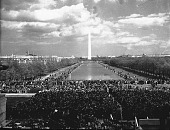 view [Marian Anderson and crowd at Lincoln Memorial, from steps looking at Washington Monument : acetate film photonegative,] digital asset: [Marian Anderson and crowd at Lincoln Memorial, from steps looking at Washington Monument : acetate film photonegative,] April 9, 1939.
