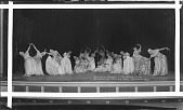 "view ""Colonial Dance"": Mu-So-Lit Club Reception [group posing on stage : acetate film photonegative,] digital asset: ""Colonial Dance"": Mu-So-Lit Club Reception [group posing on stage : acetate film photonegative,] Feb. 23, 1932."