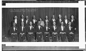 view The Roland Hayes Male Chorus [on stage, one row standing, one row sitting : acetate film photonegative,] digital asset: The Roland Hayes Male Chorus [on stage, one row standing, one row sitting : acetate film photonegative,] 1932.