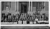 view [YMCA Twelfth Street Branch, Team and Division Leaders, Gen. Chairman, group in front of building : acetate film photonegative.] digital asset: [YMCA Twelfth Street Branch, Team and Division Leaders, Gen. Chairman, group in front of building : acetate film photonegative.]