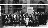 view Interdenominational Ushers Union [in front of Zion Baptist Church Washington, D.C. : acetate film photonegative,] digital asset: Interdenominational Ushers Union [in front of Zion Baptist Church Washington, D.C. : acetate film photonegative,] 1932.