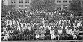 view June graduating class, Armstrong High School [group on bleachers] : [acetate film photonegative] digital asset: June graduating class, Armstrong High School [group on bleachers] : [acetate film photonegative], 1936.