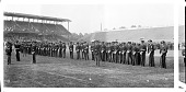 view [Howard University ROTC unit on football field, dress parade : acetate film photonegative] digital asset: [Howard University ROTC unit on football field, dress parade : acetate film photonegative, ca. 1930.]