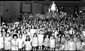 view [Children at party with balloons and streamers : acetate film photonegative] digital asset: [Children at party with balloons and streamers : acetate film photonegative, ca. 1930.]