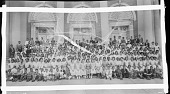view [Group of children (students?) on steps of Garnet Patterson Jr. High School (Vermont Ave. entrance) : acetate film photonegative] digital asset: [Group of children (students?) on steps of Garnet Patterson Jr. High School (Vermont Ave. entrance) : acetate film photonegative, ca. 1934-1935.]