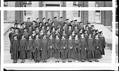 view [Students in caps and gowns : panoramic acetate film photonegative] digital asset: [Students in caps and gowns : panoramic acetate film photonegative, 1935.]