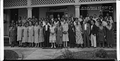 view A.I.O. of Moses at home of / Frederick Douglass Sept 16 '31 [panoramic acetate film photonegative,] digital asset: A.I.O. of Moses at home of / Frederick Douglass Sept 16 '31 [panoramic acetate film photonegative,] Sept. 16, 1931.