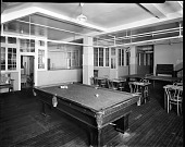 view [Y.M.C.A. game room with pool table : acetate film photonegative,] digital asset: [Y.M.C.A. game room with pool table : acetate film photonegative,] 1933.