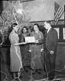 view Health award, Martha Washington Vocational School [acetate film photonegative] digital asset: Health award, Martha Washington Vocational School [acetate film photonegative, ca. 1930].