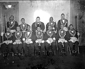 view [Masonic officers group : acetate film photonegative], 1948 digital asset number 1