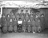 view Martha Washington cosmetology class [acetate film photonegative,] digital asset: Martha Washington cosmetology class [acetate film photonegative,] 1947.