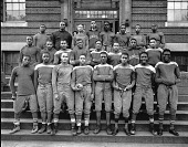 view Cardozo High School football team [acetate film photonegative] digital asset: Cardozo High School football team [acetate film photonegative], 1937.