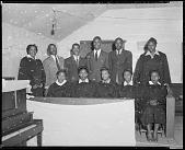 view Reverend Shelton Lee's Choir [ink on film edge : acetate film photonegative] digital asset: Reverend Shelton Lee's Choir [ink on film edge : acetate film photonegative, ca. 1940.]