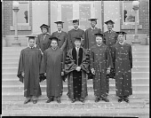 view Howard University School of Religion Class 1944 [acetate film photonegative] digital asset: Howard University School of Religion Class 1944 [acetate film photonegative], 1944.