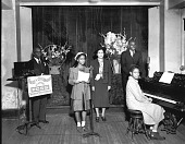 view Voice of Childhood radio station, Plymouth Sunday School, 2nd anniversary : acetate film photonegative digital asset: Voice of Childhood radio station, Plymouth Sunday School, 2nd anniversary : acetate film photonegative, ca. 1940.