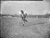 view [Howard University football player running with ball : acetate film photonegative,] digital asset: [Howard University football player running with ball : acetate film photonegative,] 1948.