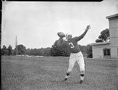 view [Howard University football player : acetate film photonegative,] digital asset: [Howard University football player : acetate film photonegative,] 1948.