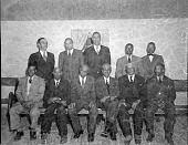 view Reverend Green's group [acetate film photonegative,] digital asset: Reverend Green's group [acetate film photonegative,] 1949.
