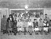 view Reverend Green's group [acetate film photonegative] digital asset: Reverend Green's group [acetate film photonegative], 1949.