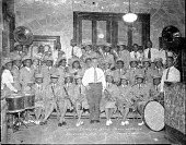view Grace Concert Band, House of Prayer [acetate film photonegative] digital asset: Grace Concert Band, House of Prayer [acetate film photonegative], 1947.