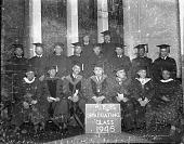 view Washington Baptist Seminary graduating class [acetate film photonegative] digital asset: Washington Baptist Seminary graduating class [acetate film photonegative], 1945.