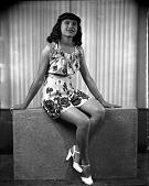 view Miss Josephine Palmer [acetate film photonegative] digital asset: Miss Josephine Palmer [acetate film photonegative, ca. 1945].